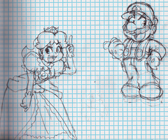 Without Guidelines - Daisy And Mario by Geibuchan
