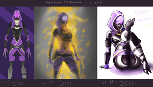 Traditional December Tali Evolution by FotusKnight