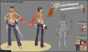 The Bladeslinger - Lowpoly by MrDrayton