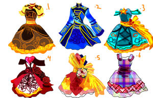 Dress Adoptables 2 (Each one 8 points) by Asoq