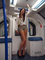 Tall woman on train by lowerrider