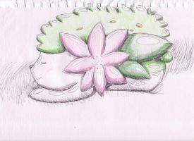 OLD ART: Sleeping Shaymin by Azailiathefox