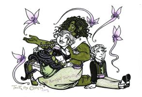 Tock the Gnome - A Faerie Moment by rachelillustrates