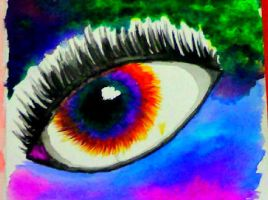 Watercolor Eye (Detail) by Icegoddesswolf16