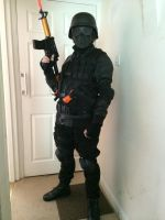 Umbrella Corporation Soldier With Tactical Vest by DovaDrive