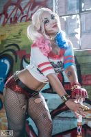 Soni Aralynn as Harley Quinn by moshunman