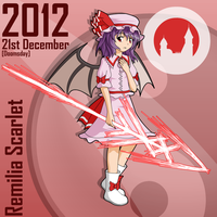 Remilia Scarlet: 21st December 2012 by dra2k4