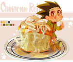Cinnamon Roll Gon too pure for this world by JuiceBox-Tea