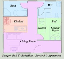 Bardock's Apartment Layout by DarkAngelxVegeta