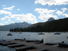 red fish lake1 by spoofy-stock