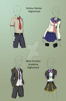 Dragon Hero: School Uniforms Reference by TheRebornAce