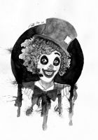 Inktober 26 -  Clown? by oodell