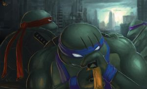 TMNT - The Fall of Michelangelo by W-E-Z