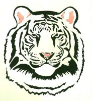 Tiger Paper-Cut by EliseMarieJ