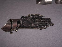 gauntlet with leather glove by Oll