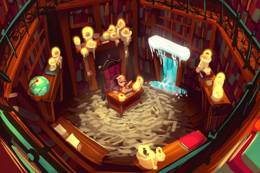 Library by frogbillgo