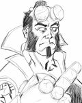 Hellboy digital pencil sketch. on Sketchbook Pro.  by JulianoSousa
