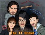 The IT Crowd Cartoon by Cuervex