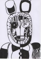 Five Nights at Freddy's Black and White Bonnie by GrundyTV