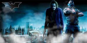 Joker and Bane Wallpaper by IGMAN51