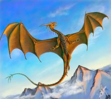 Mountain copper dragon by AlviaAlcedo