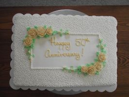 50th Anniversary Cake by ayarel
