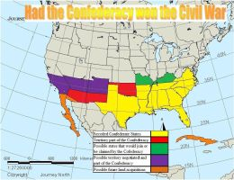 What the Confederacy might have looked like if the by wptaimuty