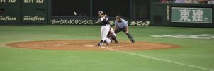 The hitter was hitting at the chance! by Akilin