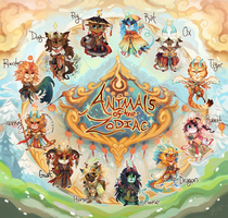 {Flatsale} Animals of the Zodiac [1 left!] by AgentCorrina