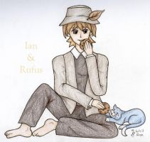 Ian and Rufus with cookies. by lokisrose