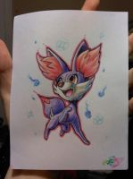 Small purple Fennekin by PinkPalkia