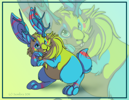 Draw-a-day: Jackalope by SombraStudio