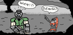 Doom Guy Meets Halo by KJID