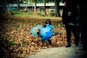 Kicking Through The Leaves by TMacAG
