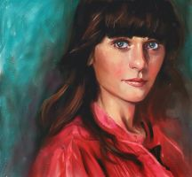 Zooey Deschanel by Wilustra