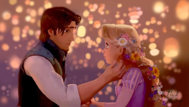 My Tangled Photoshop Painting by heidihastings