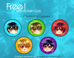 [Buttons] Free! Iwatobi Swim Club by kittyalyst