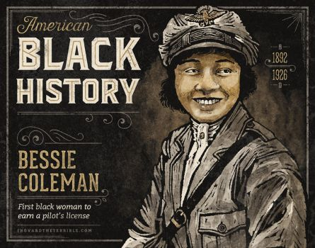 Black History - Bessie Coleman by IngvardtheTerrible