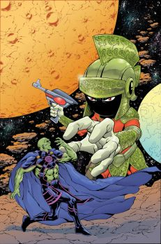 Marvin Martian/Martian Manhunter by aaronlopresti