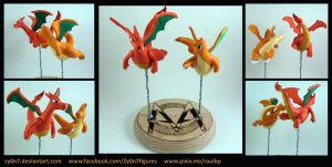 Charizard and Dragonite figures by Zy0n7
