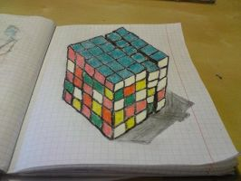 Rubic's Cube 5*5 in 3D? So close... by busymin
