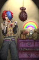 Psycho Clown boy XD by EkimmuNight