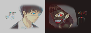 Tokyo Ghoul/Kushu | Facebook cover by Hanacch