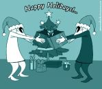 Spy Vs Spy Happy Holidays by MAKATAKO