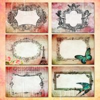 Vintage frame collage sheet by miabumbag