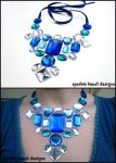Silver and Blue Floating Gems by Natalie526