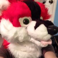 Thunder Fursuit Head [Complete] Right view by Thundahcrackah