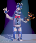 Funtime Bonnie and FredFred by jorjimodels