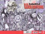 Savage Wolverine Sketch Cover by MichaelOdomArt