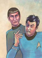 Spock and McCoy by kethryn